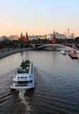 Vista de Moscovo Kremlin fotos de stock