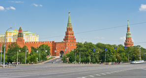 Vista de Moscovo Kremlin Imagem de Stock Royalty Free