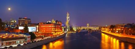 Vista de Moscovo na noite Fotografia de Stock