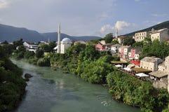 Vista de Mostar Foto de archivo