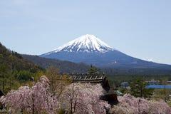 Vista de Mt Años Nuevos japoneses de diseño de tarjeta Fotos de archivo