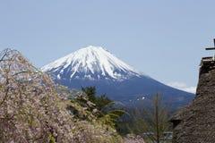 Vista de Mt Años Nuevos japoneses de diseño de tarjeta Imágenes de archivo libres de regalías