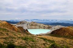 Vista de Mt Kusatsu-Shirane imagens de stock royalty free