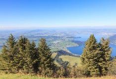Vista de Mt Rigi Fotografia de Stock Royalty Free