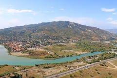 Vista de Mtskheta, Georgia Foto de archivo libre de regalías