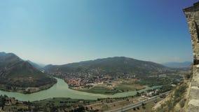 Vista de Mtskheta Georgia almacen de video
