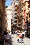 2014: Vista de Murcia Calles viejas Imagen de archivo libre de regalías
