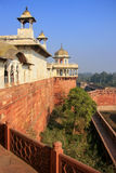Vista de Musamman Burj no forte de Agra, Uttar Pradesh, Índia Foto de Stock Royalty Free