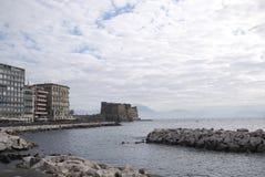 Vista de Nápoles foto de archivo libre de regalías