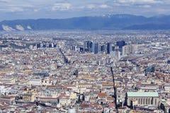 Vista de Nápoles Imágenes de archivo libres de regalías