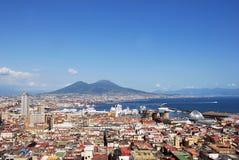 Vista de Nápoles. Fotografia de Stock