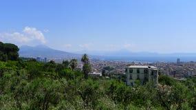 Vista de Nápoles Foto de Stock