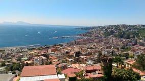 Vista de Nápoles da casa de campo Floridiana imagem de stock royalty free