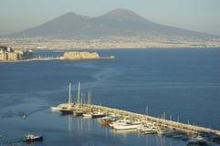 Vista de Nápoles, Italia Fotos de archivo
