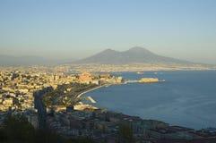 Vista de Nápoles, Italia Imagen de archivo
