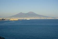 Vista de Nápoles, Italy Fotografia de Stock