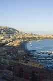 Vista de Nápoles, Italy imagens de stock