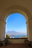 Vista de Nápoles, Itay Fotografía de archivo