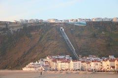 Vista de Nazaré del a la playa - Portugal Fotografía de archivo