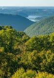 A vista de negligencia no monte WMA da serpente em WV Fotografia de Stock Royalty Free