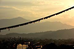 Vista de Nepal del stupa de Buddanath Foto de archivo