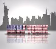 Vista de New York City ilustração do vetor