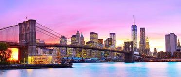 Vista de New York City Foto de archivo libre de regalías