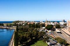 Vista de Newcastle, Australia imagen de archivo libre de regalías