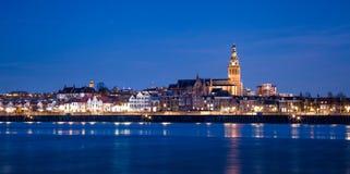 Vista de Nijmegen foto de stock