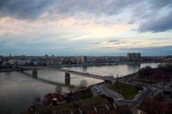 Vista de Novi Sad de la fortaleza 1 Fotografía de archivo libre de regalías