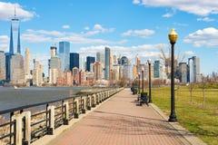 Vista de Nueva York de Jersey City Foto de archivo