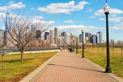 Vista de Nueva York de Jersey City Imagen de archivo libre de regalías