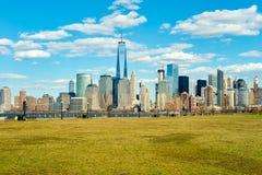 Vista de Nueva York de Jersey City Fotografía de archivo