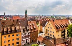 Vista de Nuremberg del castillo imagenes de archivo