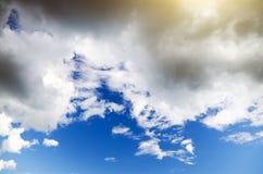 Vista de nuvens do temporal. Fotografia de Stock