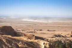 Vista de oásis Chebika da montanha, deserto de Sahara, Tunísia, África Foto de Stock