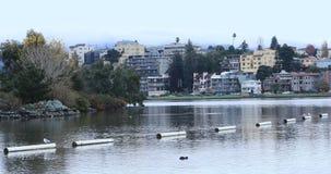 Vista de Oakland, lago Merritt 4K do ` s de Califórnia vídeos de arquivo