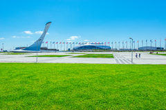 Vista de objetos del parque olímpico Fotos de archivo