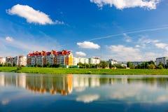 Vista de Obninsk, Rússia foto de stock