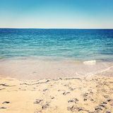Vista de Oceano Atlântico da estância de verão Foto de Stock Royalty Free