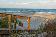 Vista de Oceano Atlântico da praia Imagem de Stock
