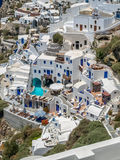 Vista de oia no santorini Fotos de Stock Royalty Free
