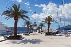 Vista de Oporto Montenegro Foto de archivo
