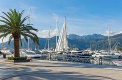 Vista de Oporto Montenegro montenegro Imágenes de archivo libres de regalías