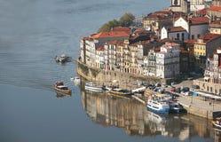 Vista de Oporto Ribeira Foto de archivo libre de regalías