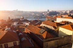 Vista de Oporto viejo céntrico, Portugal Viajes fotografía de archivo