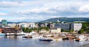 Vista de Oslo Fotos de archivo libres de regalías