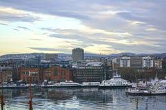 Vista de Oslo y del fiordo de Oslo noruega Foto de archivo libre de regalías