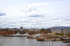Vista de Oslo y del fiordo de Oslo noruega fotos de archivo libres de regalías
