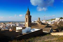 Vista de Osuna con la iglesia Andalucía Imágenes de archivo libres de regalías